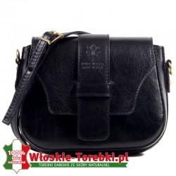 Czarna torebka Rafaella - model crossbody z klapką