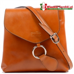 Mała torebka Dona w kolorze jasny rudy karmelowy brąz