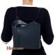 Plecak włoski z szarej gładkiej skóry
