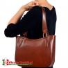 Brązowa torebka damska na ramię - model Loreto w klasycznym stylu