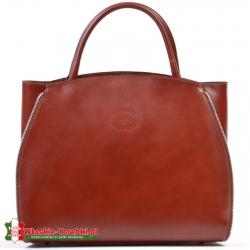 Duża brązowa torba / kuferek A4 Tiziana
