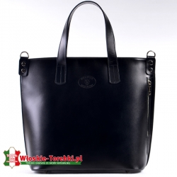 Duża czarna torba Cosima typu shopper - mieści A4