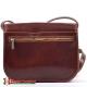 Skórzana modna torebka w kolorze brązowym - gruba skóra bydlęca