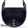 Czarna torebka Ines - mniejsza wersja - model crossbody z klapą
