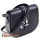 Skórzana czarna torebka Tonia produkcji włoskiej - model na długim pasku