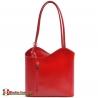 Czerwona torebka Velia średniej wielkości - plecak damski