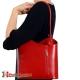 Skórzana torebka na ramię w pięknym odcieniu czerwieni Velia