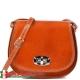 Skórzana włoska torebka damska w jasnym odcieniu brązu