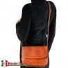 LUISELLA  - torebka crossbody z luksusowej brązowej skóry w odcieniu koniak