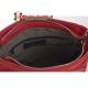 Czerwona włoska torebka Fiore średniej wielkości zamykana suwakiem