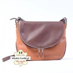 Mała torebka z miękkiej skóry jasnobrązowa Dona