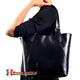 Czarna torba Samuela z regulacją długości pasków