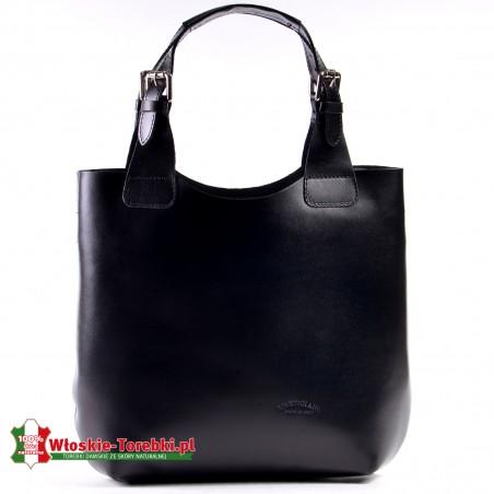 Czarna torba Nicolina z wyjmowanym wkładem i regulowanej długości uchwytami
