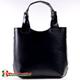 Skórzana torba damska w kolorze czarnym - shopper A4