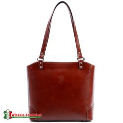 Elegancka brązowa torebka średniej wielkości na ramię Daniela