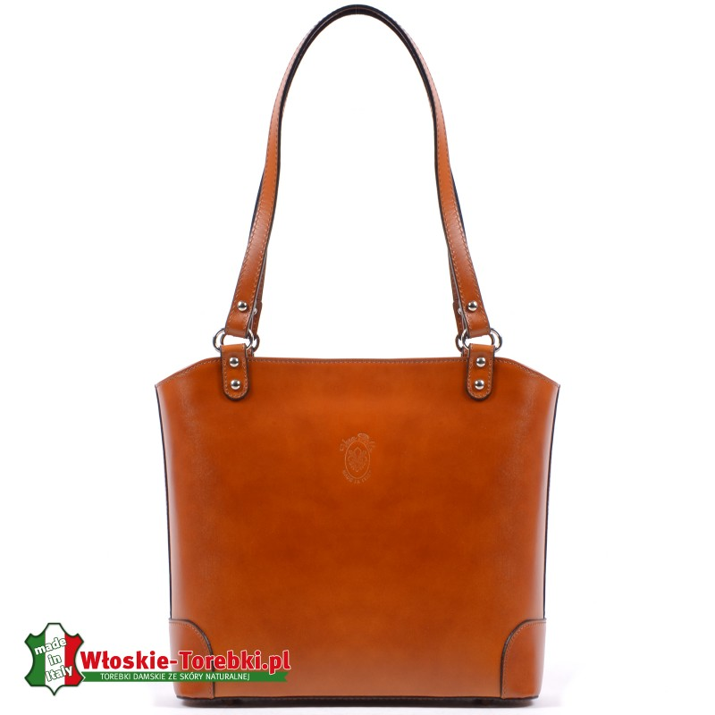 Jasnobrązowa torebka Daniela włoska