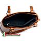 Skórzana torebka z przegrodą wewnątrz - model średniej wielkości
