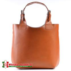 Nicolina - shopper w kolorze jasnobrązowym