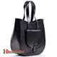 Pojemna czarna torba Savina ze skóry naturalnej