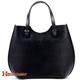 Czarna torba damska Fulvia - piękny kształt, pojemna