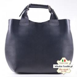 Shopper w kolorze czarnym - duża torba Giovanna