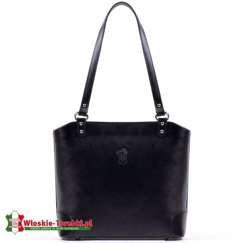 Stylowa torebka Daniela - skórzana, czarna
