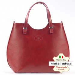Torba Fulvia w kolorze czerwonym - duża, elegancka i modna