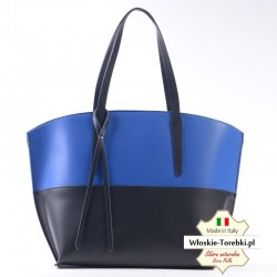 Czarno - niebieska dwukolorowa torebka damska Carlota