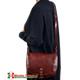 Duża skórzana włoska torba Ines z klapą - klasyczna, z grubej bydlęcej skóry