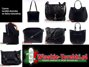 Czarne torebki skórzane
