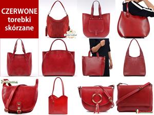 Czerwone torebki damskie ze skóry