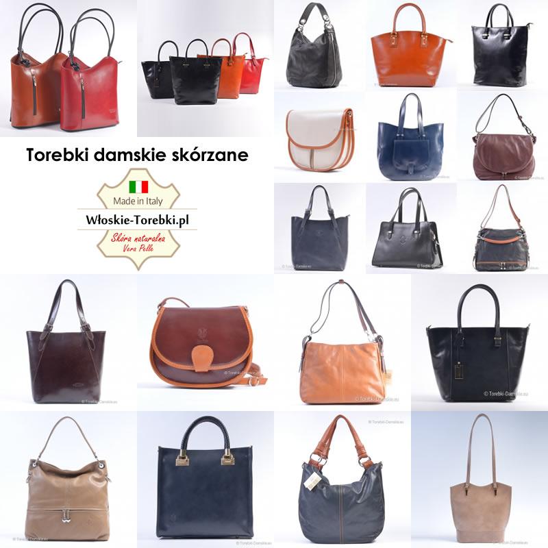f698e90e89e8a Damskie torebki skórzane produkcji włoskiej - Sklep Internetowy